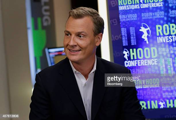 Rich Riley chief executive officer at Shazam Entertainment Ltd speaks during a Bloomberg Television interview at the Robin Hood Investors Conference...