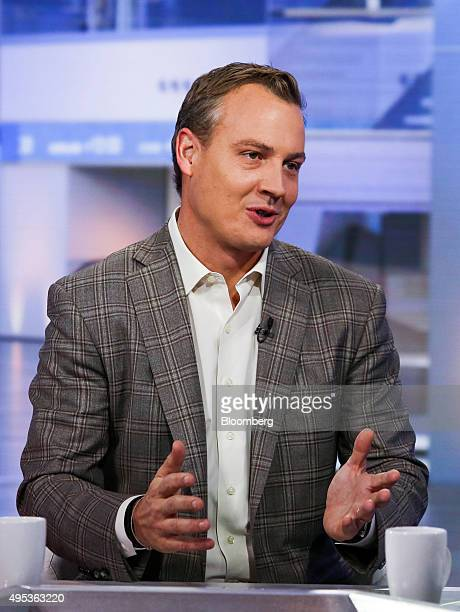 Rich Riley chief executive officer of Shazam Entertainment Ltd speaks during a Bloomberg Television interview in New York US on Monday Nov 2 2015...