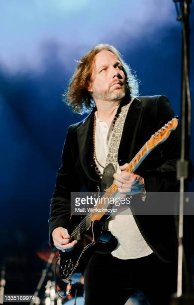 Rich Robinson of The Black Crowes perform at The Forum on August 19, 2021 in Inglewood, California.