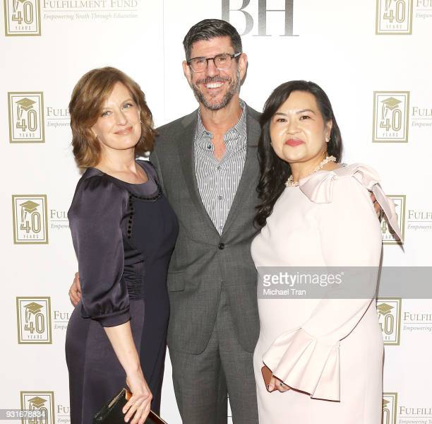 Rich Ross Anne Sweeney and Maria Booth attend A Legacy of Changing Lives presented by The Fulfillment Fund held at The Ray Dolby Ballroom at...