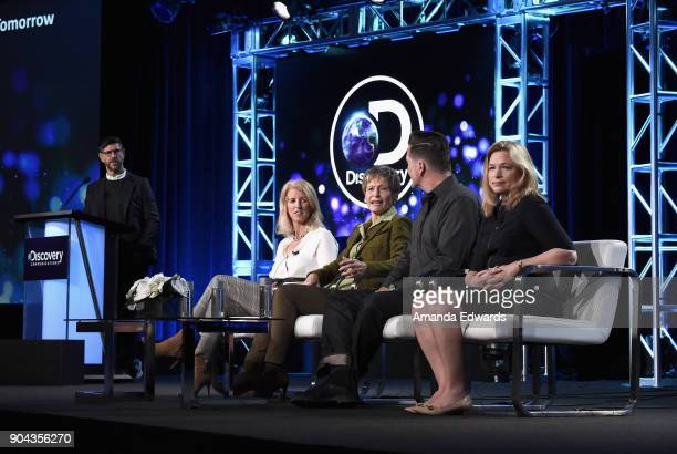 Rich Ross Group President Discovery Channel Science Channel with Rory Kennedy director/producer/narrator Peggy Whitson Space Shuttle and ISS...