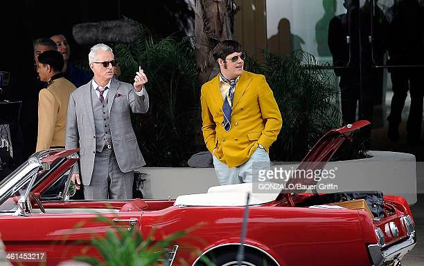Rich Sommer and John Slattery are seen filming Mad Men on March 05 2013 in Los Angeles California