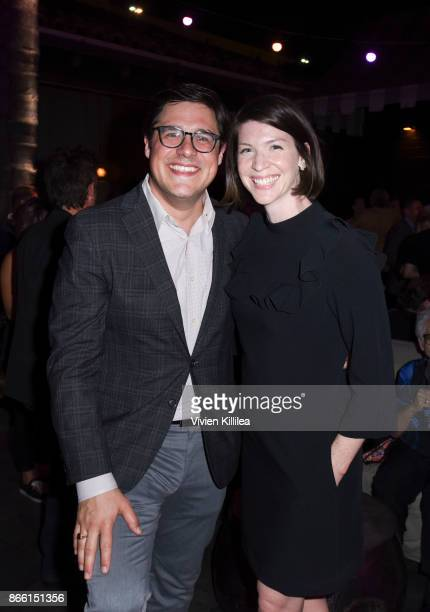 Rich Sommer and Virginia Donohoe attend the Los Angeles Premiere of LBJ at ArcLight Hollywood on October 24 2017 in Hollywood California