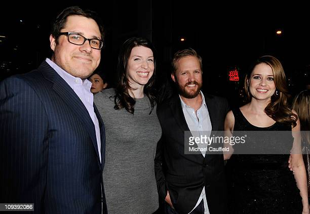 Rich Sommer Virginia Donohoe Lee Kirk and Jenna Fischer attend the Los Angeles Premiere of Hall Pass held at ArcLight Cinemas Cinerama Dome on...