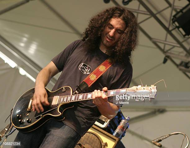 """Rich Soto from the band deSol during Bonnaroo 2004 - Day 1 - JoJo & His Mojo Mardi Gras Band at Centeroo Performance Fields - """"The Other Tent"""" in..."""