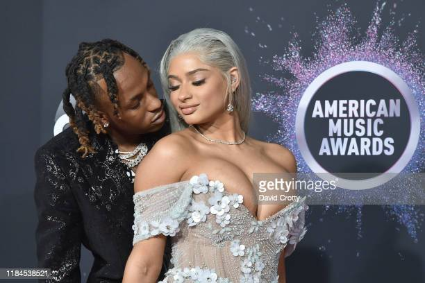 Rich The Kid and Antonette Willis attend 47th Annual AMA Awards - Arrivals at Microsoft Theater on November 24, 2019 in New York City.