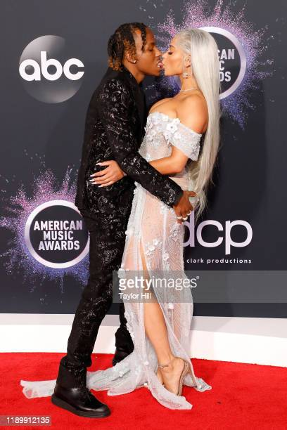 Rich the Kid and Antonette Willis attend the 2019 American Music Awards at Microsoft Theater on November 24 2019 in Los Angeles California