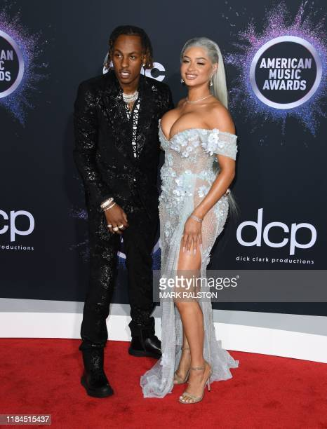Rich The Kid and Tori Brixx arrive for the 2019 American Music Awards at the Microsoft theatre on November 24 2019 in Los Angeles