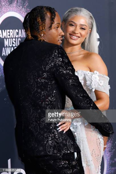 Rich The Kid, Antonette Willis at the 2019 American Music Awards arrivals at Microsoft Theater - PHOTOGRAPH BY P. Lehman / Barcroft Media