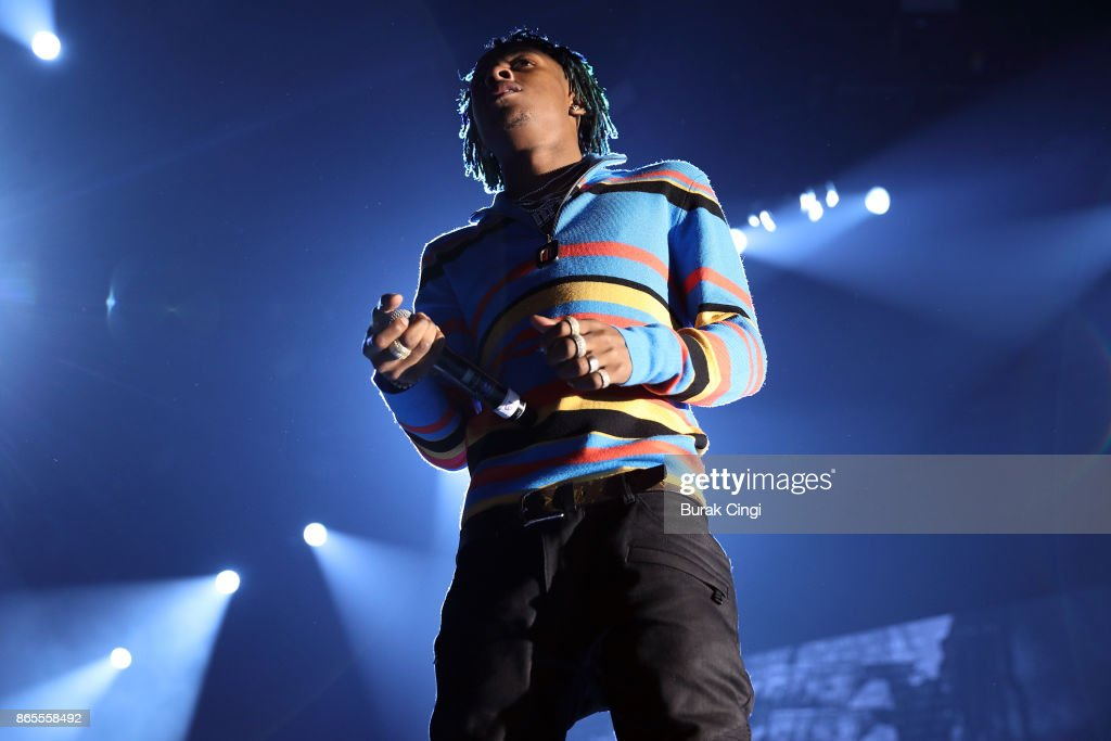 Rich the Kid performs live on stage at The O2 Arena on October 23, 2017 in London, England.