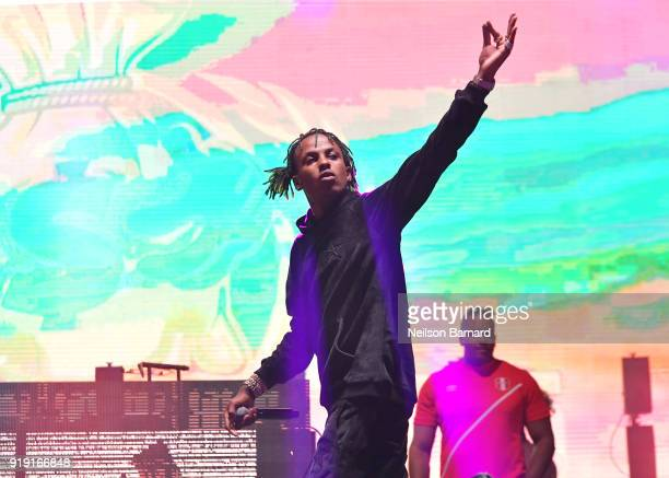 Rich the Kid performs onstage during adidas Creates 747 Warehouse St an event in basketball culture on February 16 2018 in Los Angeles California