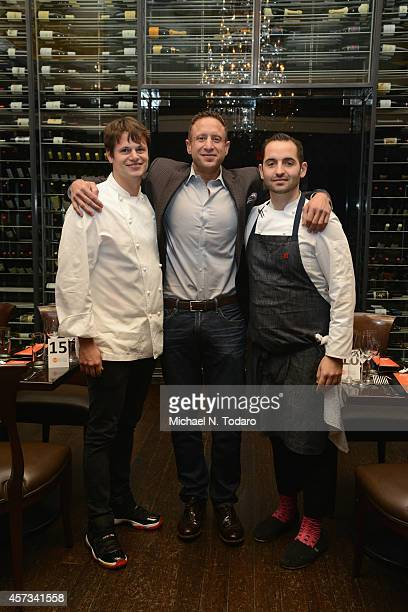 Rich Torrisi Pat LaFrieda and Mario Carbone attend Beyond the Butcher Block hosted by Pat LaFrieda with Rich Torrisi and Mario Carbone as a part of...