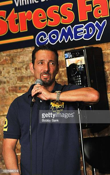Rich Vos performs at The Stress Factory Comedy Club on April 3, 2010 in New Brunswick, New Jersey.