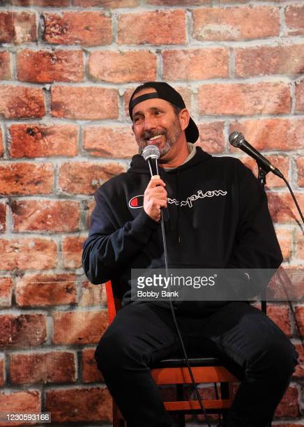 Rich Vos performs at The Stress Factory Comedy Club on January 14, 2021 in New Brunswick, New Jersey.