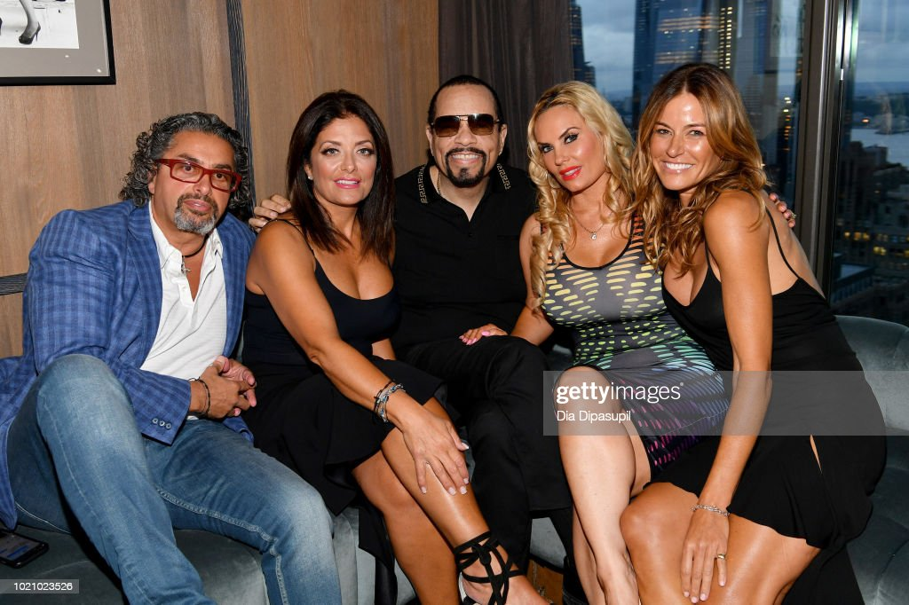 Rich Wakile, Kathy Wakile, Ice-T, Coco Austin, and Kelly Bensimon attend WE tv and Traci Braxton celebrate the new season of Braxton Family Values at The Skylark on August 21, 2018 in New York City.