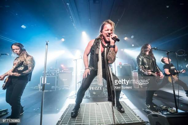 Rich Ward Chris Jericho Paul Di Leo and Billy Grey of Fozzy perfom in concert at Razzmatazz during Route Resurrection on February 11 2018 in...