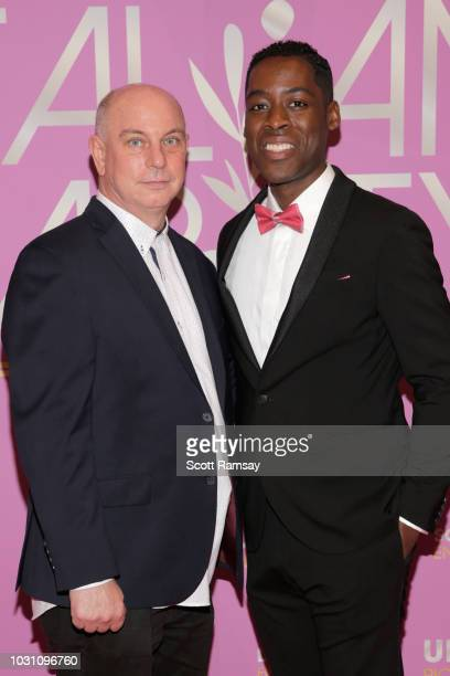 Rich Wolff and Jaze Bordeaux attend The Italian Party during 2018 Toronto International Film Festival celebrating Excelsis movie at Aqualina at...