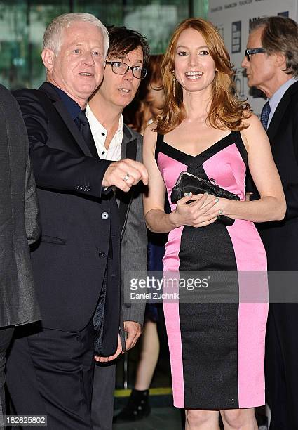 Richarc Curtis musician Ben Folds of Ben Folds Five and actress Alicia Witt attend the 'About Time' premiere during the 51st New York Film Festival...
