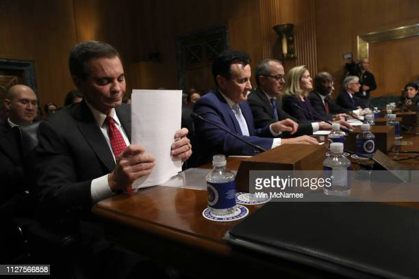 Richard A. Gonzalez, chairman and CEO of AbbVie Inc., Pascal Soriot, executive director and CEO of AstraZeneca, Giovanni Caforio, chairman of the...