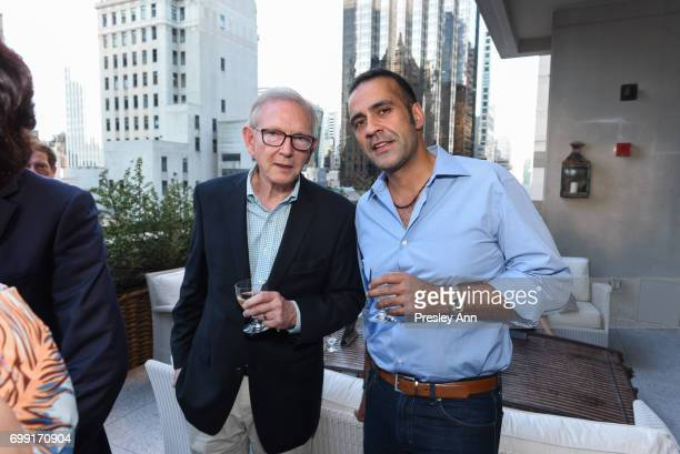 Richard Alleman and Aatish Taseer attend Essentialist Launch Party at The Whitby Hotel at the Whitby Hotel on June 20 2017 in New York City