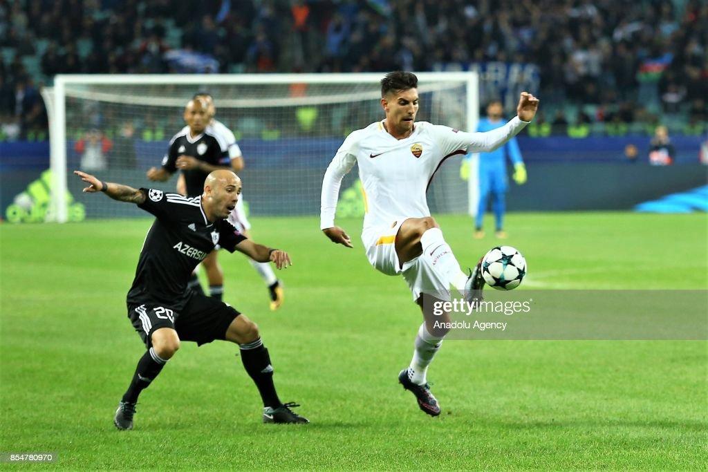 Qarabag FK vs AS Roma : UEFA Champions League : News Photo
