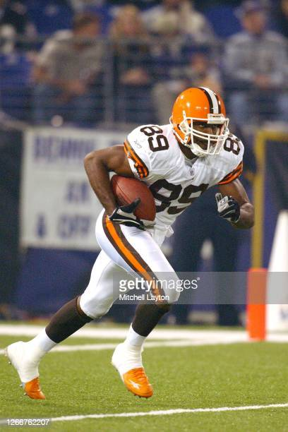 Richard Alston of the Cleveland Browns runs with the ball during a NFL football game against the Baltimore Ravens on November 7, 2004 at M & T Bank...