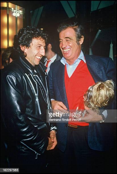Richard Anconina and Jean Paul Belmondo - Claude Lelouch Celebrating his 50th Birthday in 1987.