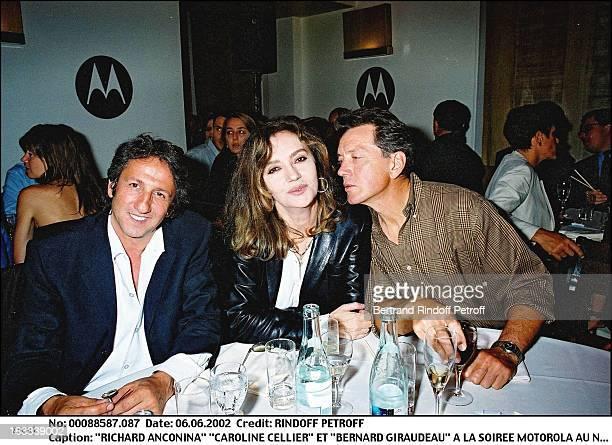 Richard Anconina Caroline Cellier and Bernard Giraudeau Motorola party at Nobu in Paris in 2002