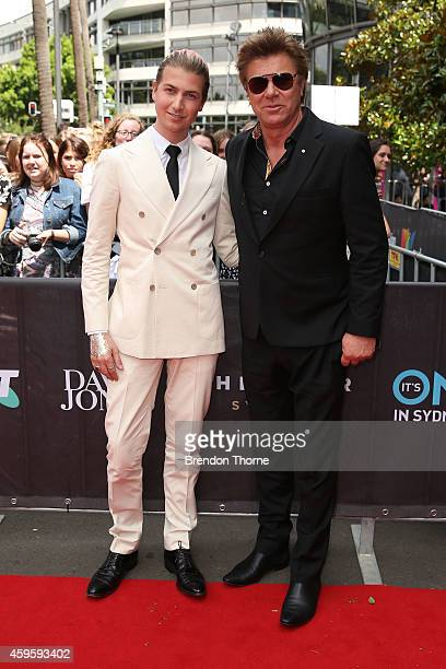Richard and Christian Wilkins arrive at the 28th Annual ARIA Awards 2014 at the Star on November 26 2014 in Sydney Australia