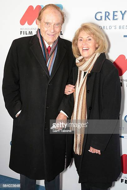 Richard and Lillian Frank arrive ahead of Melbourne International Film Festival Opening Night at Hamer Hall on July 28 2016 in Melbourne Australia