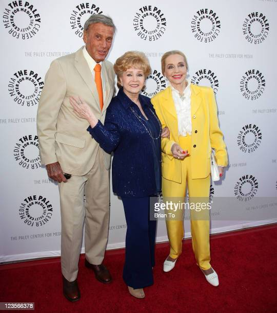 Richard Anderson Debbie Reynolds and Anne Jeffreys attend Paley Center TCM present Debbie Reynolds' Hollywood memorabilia exhibit reception at The...
