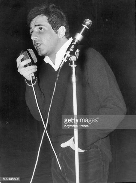 Richard Anthony during a rehearsal at the Olympia on November 4 1963 in Paris France