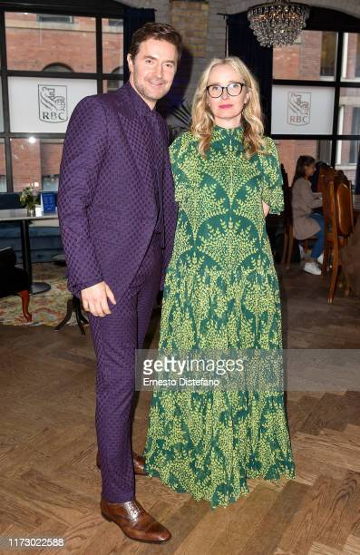 Richard Armitage and Julie Delpy attend the RBC Hosted My Zoe Cocktail Party At RBC House Toronto Film Festival 2019 on September 07 2019 in Toronto...