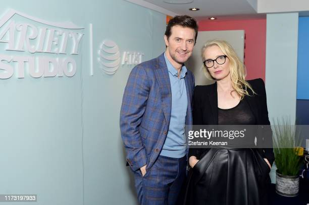 Richard Armitage and Julie Delpy stop by ATT ON LOCATION during Toronto International Film Festival 2019 at Hotel Le Germain on September 08 2019 in...