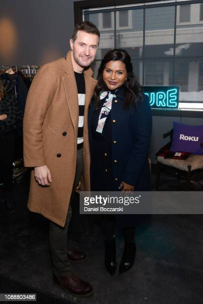 Richard Armitage and Mindy Kalin attend The Vulture Spot during Sundance Film Festival on January 25, 2019 in Park City, Utah.