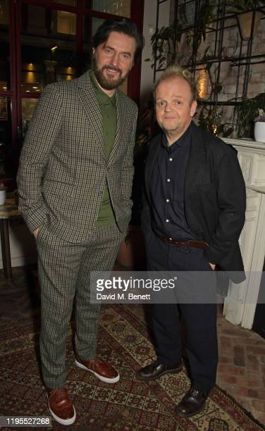 Richard Armitage and Toby Jones attend the press night after party for Uncle Vanya at Sophie's on January 23 2020 in London England