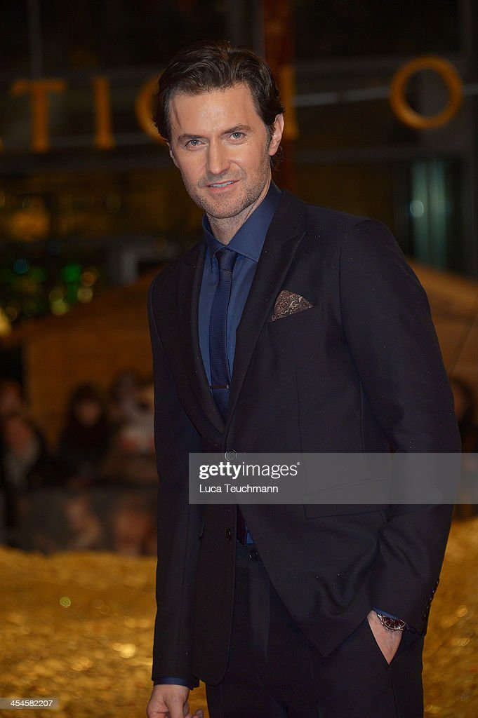 Richard Armitage attends the German premiere of the film 'The Hobbit: The Desolation Of Smaug' (Der Hobbit: Smaugs Einoede) at Sony Centre on December 9, 2013 in Berlin, Germany.