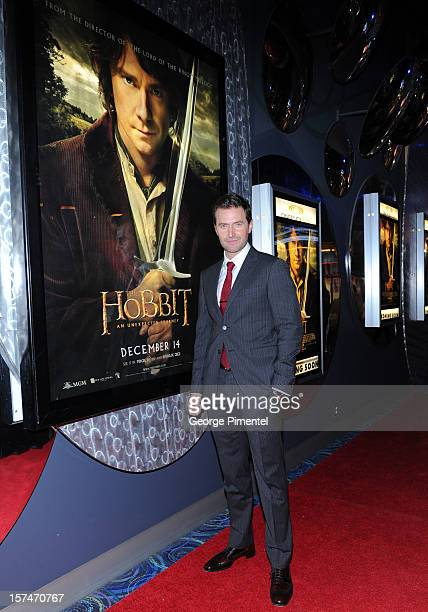 "Richard Armitage attends ""The Hobbit: An Unexpected Journey"" Canadian premiere at Scotiabank Theatre on December 3, 2012 in Toronto, Ontario."