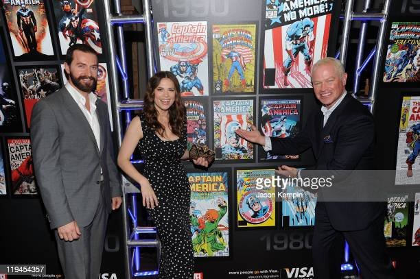 Richard Armitage Hayley Atwell and Neal McDonough attend the Visa Signature VIP Screening of Captain America at AMC Loews Lincoln Square 13 theater...