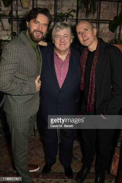 Richard Armitage Peter Wight and Ian Rickson attend the press night after party for Uncle Vanya at Sophie's on January 23 2020 in London England
