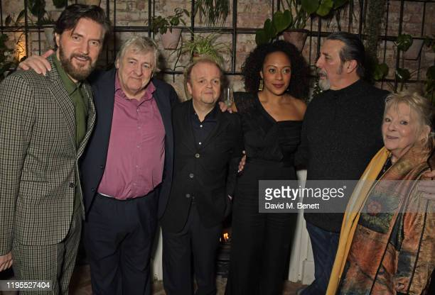 Richard Armitage Peter Wight Toby Jones Rosalind Eleazar Ciaran Hinds and Anna CalderMarshall attend the press night after party for Uncle Vanya at...