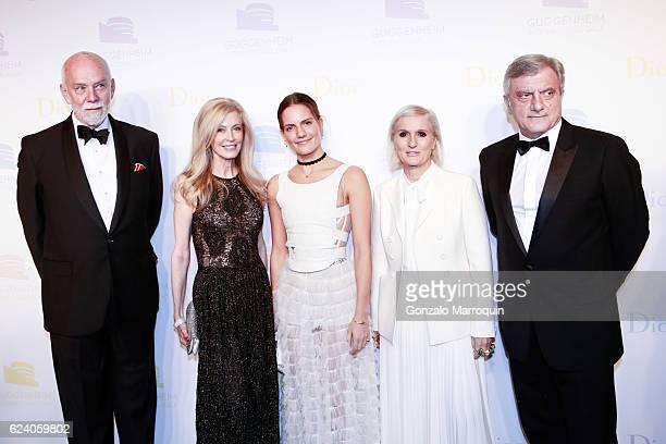 Richard Armstrong Jennifer StockmanRachele ReginiMaria Grazia Chiuri and Sidney Toledano at the 2016 Guggenheim International Gala at Solomon R...