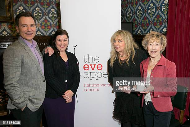 Richard Arnold Helen Lederer Patti Clare and Josie Kidd attend The Eve Appeal afternoon tea party to mark the beginning of Ovarian Cancer Awareness...