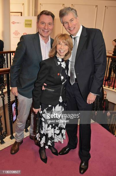 Richard Arnold, Helen Worth and Trevor Dawson attend The Prince's Trust, TKMaxx and Homesense Awards at The London Palladium on March 13, 2019 in...