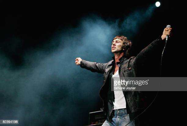 Richard Ashcroft of The Verve performs live on the V stage during Day Two of V Festival 2008 at Hylands Park on August 17 2008 in Chelmsford England