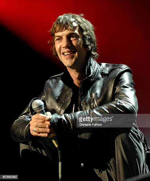 Richard Ashcroft of The Verve performs on day one of the V Festival at Weston Park on August 16 2008 in Telford England