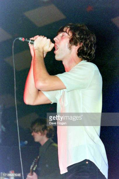 Richard Ashcroft of the Verve performs on stage at Barrowlands in Glasgow on the 11th January 1998