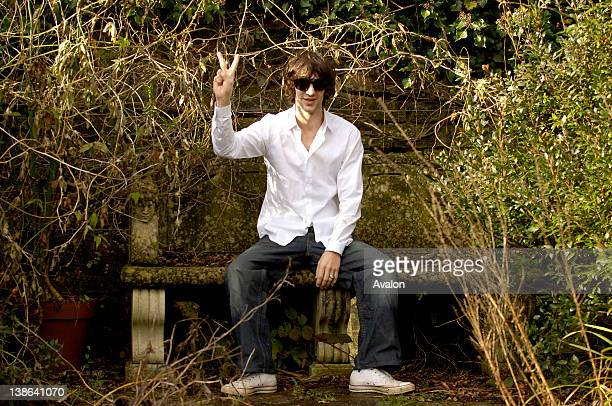 Richard Ashcroft solo artist and former lead singer of The Verve taken in his garden at home in Gloucestershire England 15th March 2006