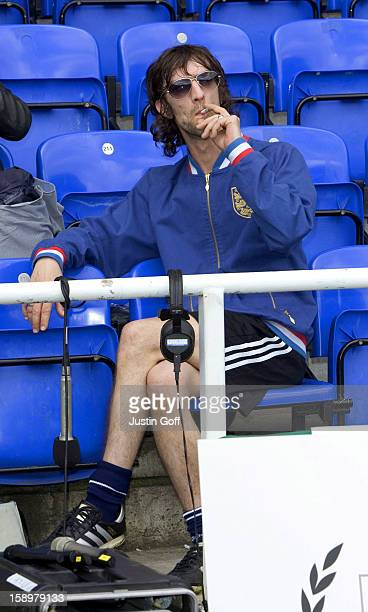 Richard Ashcroft Takes Part In The England V Germany The Legends Charity Football Match At The Madejski Stadium In Reading