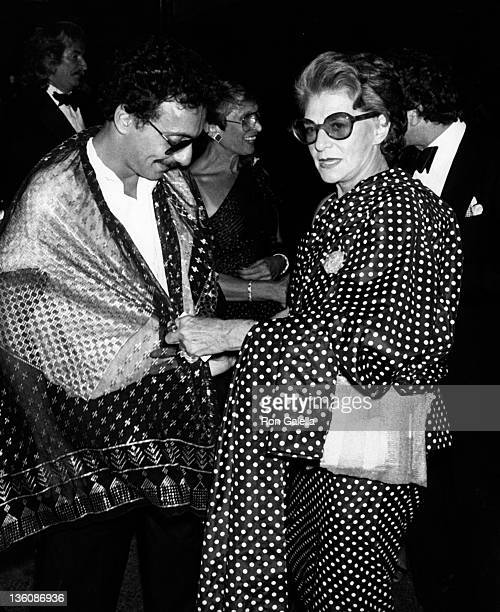 Richard Assatly and Pauline Trigere attend New York Fashion Council Salute To American Designers on August 14 1979 at Tavern on the Green in New York...